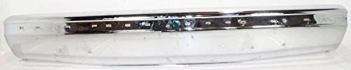 Front Bumper Compatible with 1987-1991 Ford F-150 / F-250 / F-350 Chrome with Impact Strip Holes