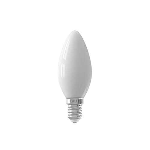 Calex Bombilla LED de 220 – 240 V, 4 W, 450 lúmenes, E14 B35, 2700 K, CRI80, regulable, filamento de cristal, línea suave
