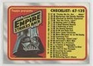 Checklist (Trading Card) 1980 Topps Star Wars: The Empire Strikes Back - [Base] #132