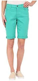 Not Your Daughter's Jeans Jade Mint Green Cuff Shorts Women's Size 12P Petites