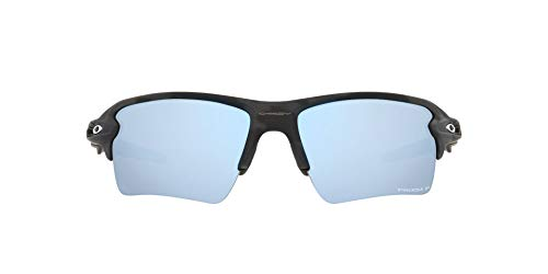 OO9188 Flak 2.0 XL Sunglasses, Matte Black Camo/Prizm Deep Water Polarized, 59mm