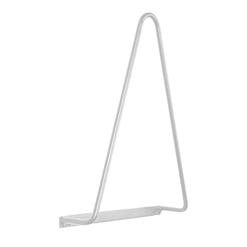 gazechimp Soporte de estante para discos de vinilo y montaje en pared, invisible y ajustable - blanco