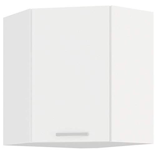 EKO White Eckhängeschrank 58x58 Weiss matt Küchenzeile Küchenblock Einbauküche