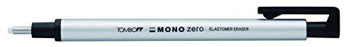 Tombow Holder Eraser, Mono Zero Round Shapre Silver (EH-KUR04)