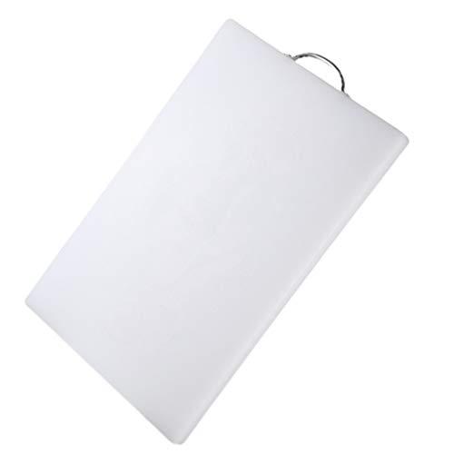 TOPBATHY Tabla de cortar de plástico profesional de doble cara para cortar queso, bandeja de frutas, tabla de cortar para cocina, hogar, restaurante, 35 x 27 x 2 cm, color blanco