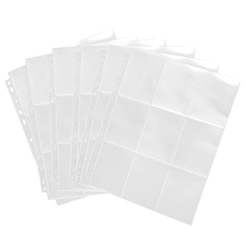 450 Sammelkartentaschen Aufbewahrungstaschen Scrapbook Seiten Sammlung Neutrale Transparent Karten Spiel Kartenhalter Scrapbook Seiten Set (transparent)