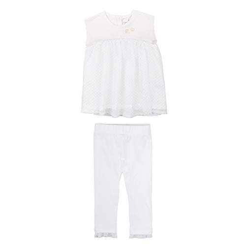 Stummer Viering Baby Meisjes Set, T-Shirt en Leggings, Wit