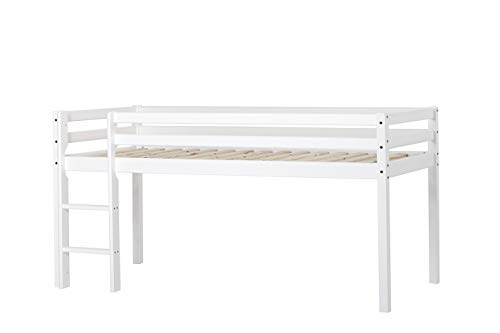 Halbhohes Bed Colour: White, Sleeping area