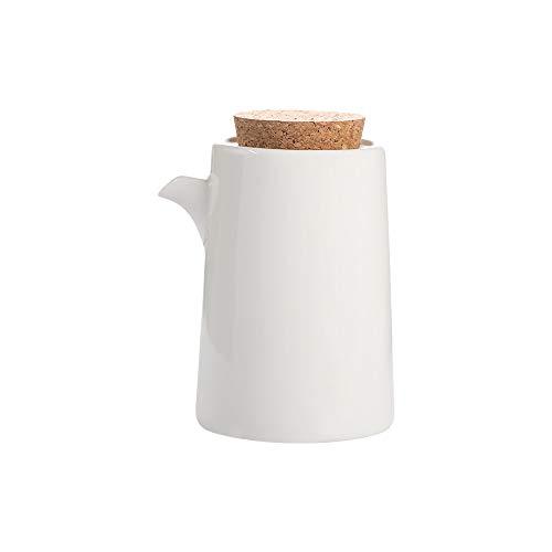 Blanco Botella dispensadora de aceite, Aceitera de Cerámica - Dispensador de Aceite...