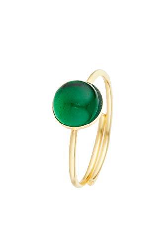 Córdoba Jewels | Anillos en Plata de Ley 925 bañada en Oro con diseño Dolce Esmeralda Gold