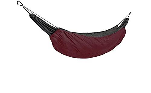 QSWL Hamaca, Hamaca Nailon Otoño Invierno Acampar Al Aire Libre Camping HamacaEspesar Prueba Viento Cálido Algodón Hamaca (Color : Wine Red, Size : 230x110cm)