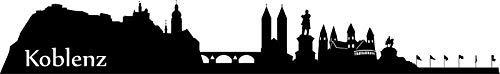 Wandtattoo Skyline Koblenz XXL Text Stadt Wand Aufkleber Wandsticker Wandaufkleber Deko sticker Wohnzimmer Autoaufkleber 1M002, Skyline Größe:Länge 200cm