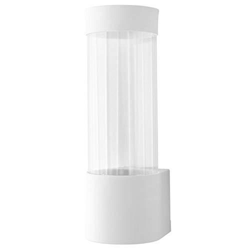 ZYBHWD Einweg-Papierbecherhalter, automatische Cup Entfernung, Geeignet for Restaurants, Bars, Büros, hochwertiger Kunststoff-Material, Weiss Becher-Halter (Color : Silver)