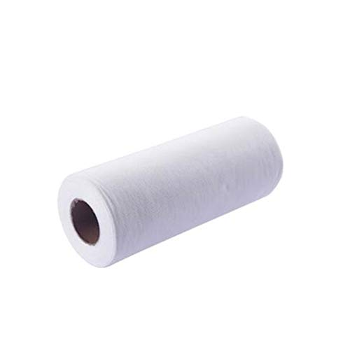 SHTSH Sht 50pcs / Rollo Desechables paño de Microfibra de Limpieza ecológicos Toalla Trapos de Cocina Estropajo paño de Cocina (Color : White, Specification : 50pcs)