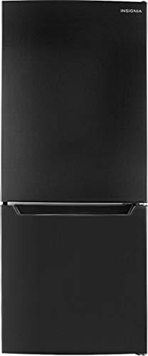Insignia - 9.2 Cu. Ft. Bottom-Freezer Refrigerator (Black)