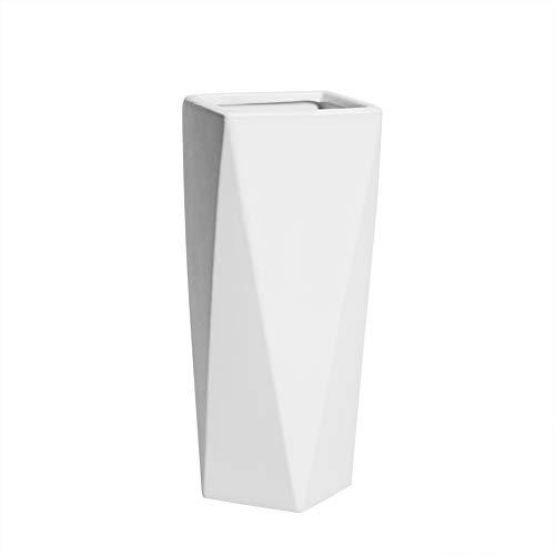 HCHLQLZ 20cm Blanco Decorativos Modernos Ceramica Jarrones d