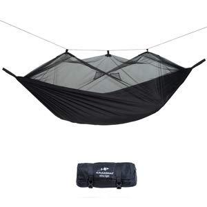 AMAZONAS Moskito Traveller Extreme-Hamaca, Color Negro, 200 kg, 275x140x2 cm