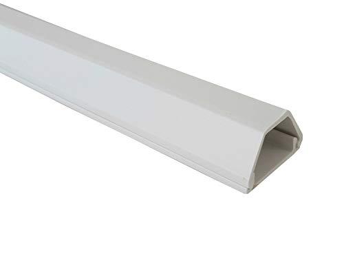 netproshop Kabelkanal 19x16mm Innenmaß PVC (Trapezförmig, Selbstklebend) (1 Meter), Farbe:Weiss
