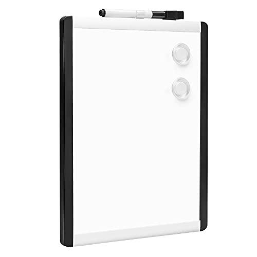 Amazon Basics - Pizarra magnética de borrado en seco, bastidor de aluminio y plástico, 21,6 x 27,9 cm