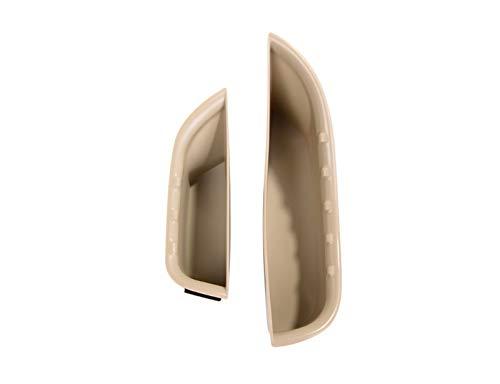 VXAOHONG 2 stücke Auto Tür Aufbewahrungsbox Griff Box Handschuh Armlehnenkasten Fit for Mercedes Benz C-Klasse W205 GLC Klasse X253 2015-2018 Auto Accessories (Color Name : Beige)