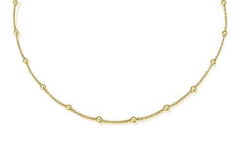 Juwelier Gelber Gold Kette mit Kugeln 585 14 Kt Gelbgold Modern Pure