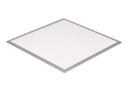 LEDAXO LED-paneel PAE-06-30, 3.600 lm / 30W, 4000 K (neutraal wit), vierkant 62x62 cm, verblindend - geschikt voor beeldschermwerk (UGR <19), aluminium frame zilver, 5 jaar fabrieksgarantie