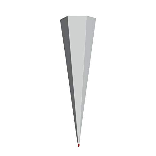 ROTH Schultüten-Rohling groß grau zum Basteln - 100 cm 6-eckig Rot(h)-Spitze ohne Verschluss