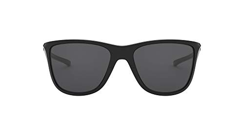 Oakley Women's Reverie 0OO9362 Square Sunglasses, POLISHED BLACK, 55 mm