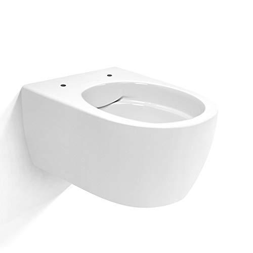 NEG Hänge-WC Uno11RK (Tiefspüler/randlos/kurz) Toilette ohne Unterspülrand mit Duroplast Soft-Close-Deckel und Nano-Beschichtung - 9