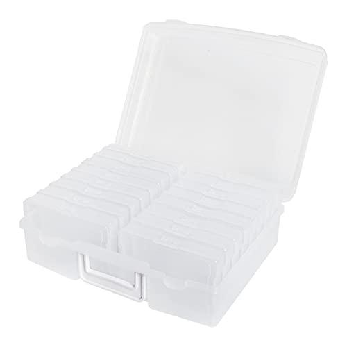 novelinks Photo Case 4' x 6' Photo Box Storage - 16 Inner Photo Keeper Photo...