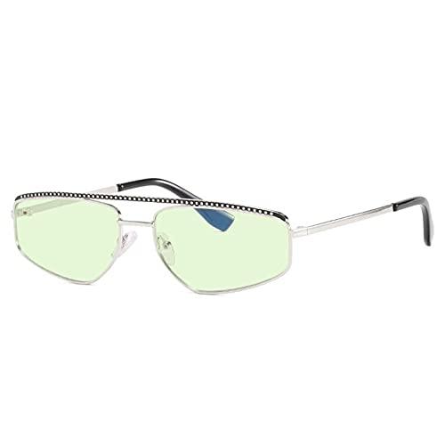 AMFG Gafas de sol de marco pequeño punk gafas de sol retro hombres y mujeres fotografiar ancla al aire libre viaje (Color : H)