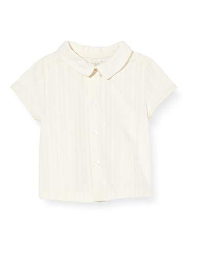 Gocco Dobby Camiseta de Manga Corta, Beige (Crudo S06cmcca901ea), 62 (Tamaño del Fabricante: T: 3/6) para Bebés