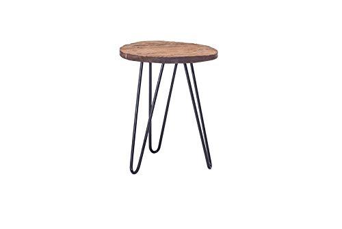 Pirouette Paris bijzettafel van hout met metalen voeten, zwart, Ø 40 cm