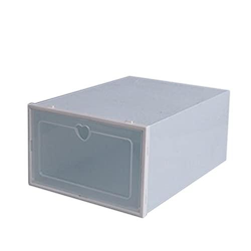 Scarpe di stoccaggio, Scarpe Flip Box ispessite Trasparente Scarpe cassetto della Custodia in plastica Scatole impilabile Box Shoe Organizer Shoebox Piccolo scarpiera Rack (Color : Blue Color)