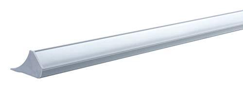 Paulmann 70440 Corner Profil zur dekorativen Raumbeleuchtung mit LED-Strips beliebiger Lichtfarbe 100 cm Grau Kunststoff überstreichbar tapezierbar