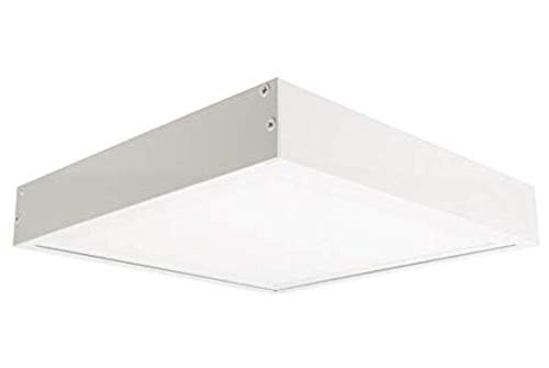 (LA) Kit Panel LED 60x60cm 40W Blanco frio (6500K) + Soporte de Superficie Blanco para...