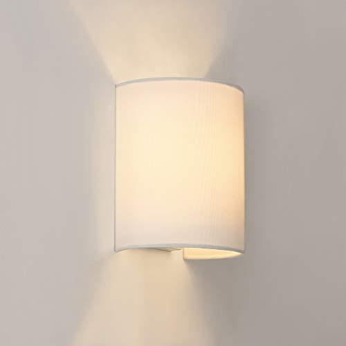 lux.pro Wandleuchte Up Down 1xE27 Wandlampe Halbrund Weiß Beleuchtung Flur Wandstrahler