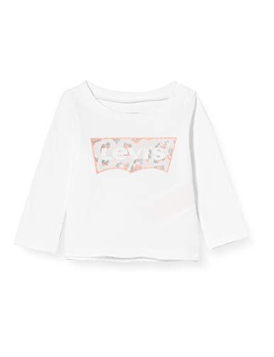 Levi's Kids Lvg Ls Graphic Tee Camiseta Bebé-Niñas White 18 meses
