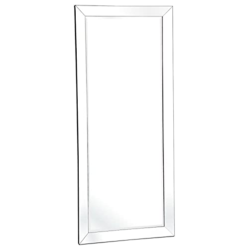 Naomi Home Mirrored Bevel Frame Full Length Mirror, Rectangular Wall Accent Beveled Mirror for Cloakroom, Bedroom, Bathroom, Living Room, Office and More