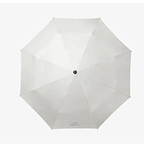 BAWAQAF Paraguas, protección Solar, Cortavientos y Paraguas Plegable automático.Paraguas de Tres Pliegues, Regalos a Prueba de Lluvia para Hombres, sombrillas
