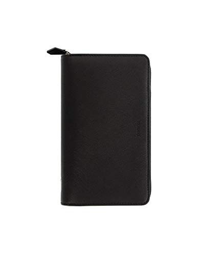 Filofax Saffiano Personal Compact Zip organiser - black