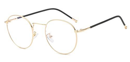 Unisex Silber Und Schwarz Retro Sixties Style Runde Metall Brillen Damen Herren Klare Linse BrilleOhne Sehstärke Fensterglas Brille Herren Damen