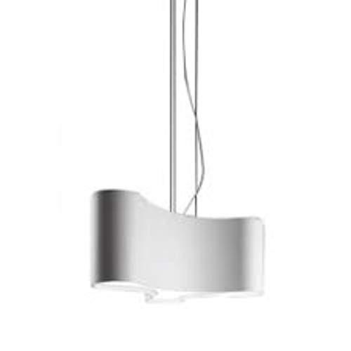 Lámpara colgante regulable, 2 led 9, 2W 500mA, con difusor de metacrilato, serie Ameba, color blanco, 35 x 51 x 28 centímetros (referencia: 220003)