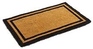 Natural Coco Coir Outdoor doormats with Black Border Keep Your House/Office Clean - Welcome Guests with Outdoor Heavy Duty...