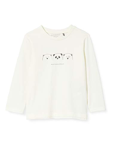 bellybutton Baby-Jungen Langarmshirt T-Shirt, Cloud Dancer|White, 86