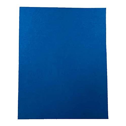 Fogli in feltro formato A4, per lavori fai da te, in feltro, per lavori fai da te, in feltro, colore blu, per lavori artigianali (30 x 21 cm), confezione da 10 fogli