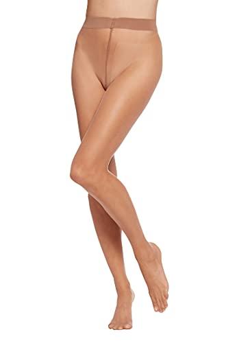 Wolford Damen 10272 Transparente Strumpfhose, Frauen Struempfe,durchsichtig,durchscheinend.4004 caramel,Large (L)