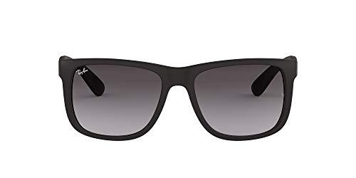 Ray Ban Unisex Sonnenbrille RB4165, Gr. Large (Herstellergröße: 55), Schwarz (Gestell: schwarz, Gläser: grau gradient 601/8G)