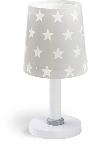 Dalber Kinder Tischlampe Nachttischlampe Sterne Stars Grau