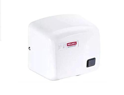 Secador de manos con botón accionador de corriente Helvex MB-1011 Blan